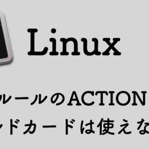 udevルールのACTIONにワイルドカードは使えない!?