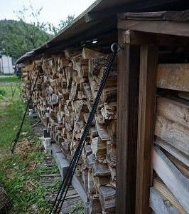 薪棚の地震と台風対策