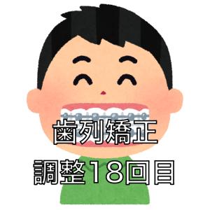 歯列矯正の調整18回目