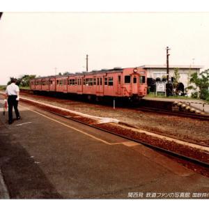国鉄時代の片町線 田辺駅のキハ35系