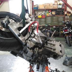 グランドアクシス 400 (CK45 DOHC 400) ターボ エンジン搭載前準備