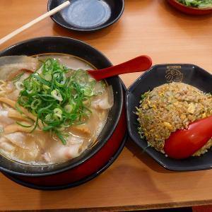 豚旨うま屋ラーメン松阪店でランチはあっさり豚骨スープとチャーハンのセットが絶品
