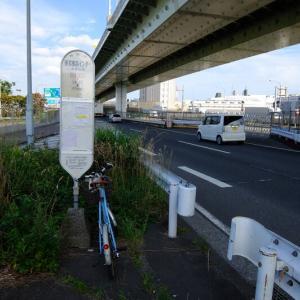夕方ポタリング、1日1本のバス停!!