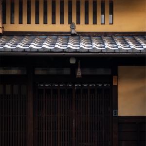 京都・西陣 - 積雪の朝