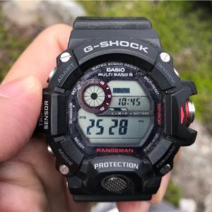 g-shock  gw-9400  高度センサー 検証してみた  レンジマン スント