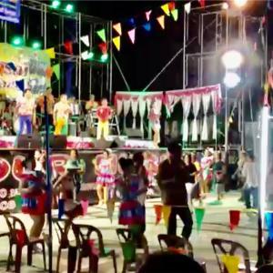 タイのイサーンの田舎のフォークダンス?2016