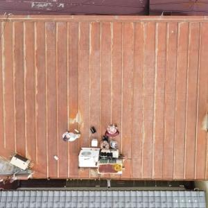 貧乏大家さんの屋根塗装は完成したのだw