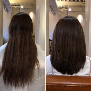 ダメージ毛はバッサリ!美髪を目指します!