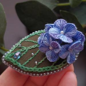 グラデーションが美しい『紫陽花 ブローチ』