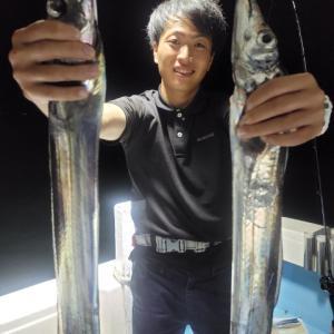 今夜のナイトタチウオもよく釣れました!鹿児島錦江湾海晴丸