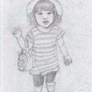 孫娘の肖像4-1   (2歳1カ月の肖像)