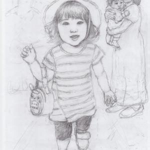 孫娘の肖像4-2  (2歳1カ月の肖像)