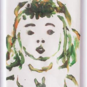 2歳の誕生日の孫娘の肖像画(似顔絵)
