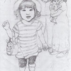 孫娘の肖像4-3   (2歳1カ月の肖像)