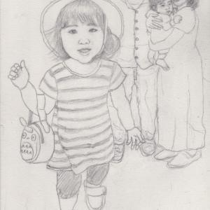 孫娘の肖像4-4 (2歳1カ月の肖像)
