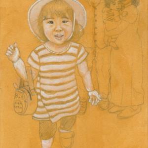 孫娘の肖像4-5 (2歳1カ月の肖像)