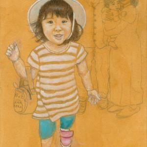 孫娘の肖像4-6 (2歳1カ月の肖像)