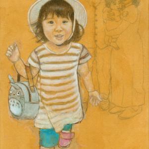 孫娘の肖像4-7 (2歳1カ月の肖像)