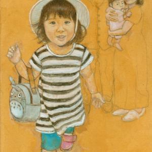孫娘の肖像4-8 (2歳1カ月の肖像)