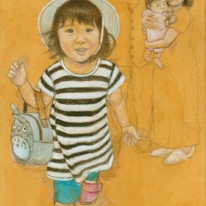 孫娘の肖像4-9 (2歳1カ月の肖像)