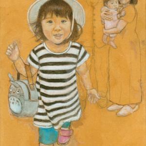 孫娘の肖像4-10 (2歳1カ月の肖像)