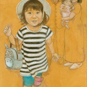孫娘の肖像4-11 (2歳1カ月の肖像)