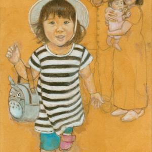 孫娘の肖像4-12 (2歳1カ月の肖像)
