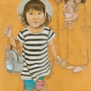 孫娘の肖像4-13 (2歳1カ月の肖像)