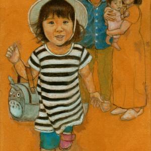 孫娘の肖像4-14 (2歳1カ月の肖像)