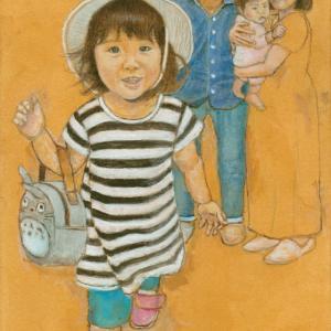 孫娘の肖像4-15 (2歳1カ月の肖像)
