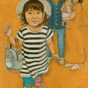 孫娘の肖像4-16 (2歳1カ月の肖像)