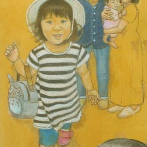 孫娘の肖像4-17 (2歳1カ月の肖像)