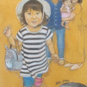 孫娘の肖像4-18 (2歳1カ月の肖像)