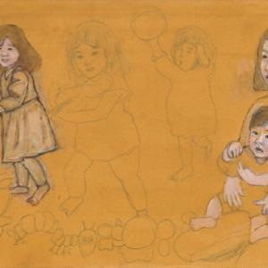 孫娘の肖像5-5 (2歳5カ月の肖像)
