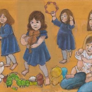 孫娘の肖像5-17 (2歳5カ月の肖像)