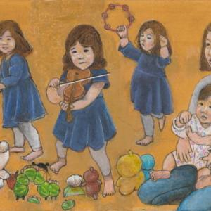 孫娘の肖像5-22 (2歳5カ月の肖像)
