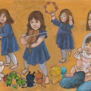 孫娘の肖像5-25 (2歳5カ月の肖像)