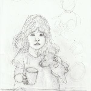 孫娘の肖像6-1 (2歳9カ月の肖像)