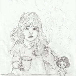 孫娘の肖像6-2 (2歳9カ月の肖像)