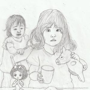 孫娘の肖像6-3 (2歳9カ月の肖像)