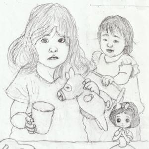 孫娘の肖像6-4 (2歳9カ月の肖像)