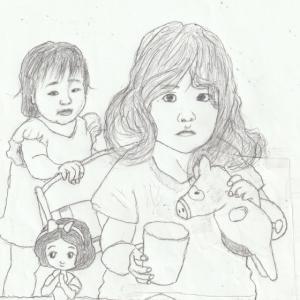 孫娘の肖像6-5 (2歳9カ月の肖像)