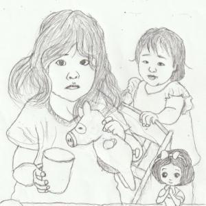 孫娘の肖像6-7 (2歳9カ月の肖像)