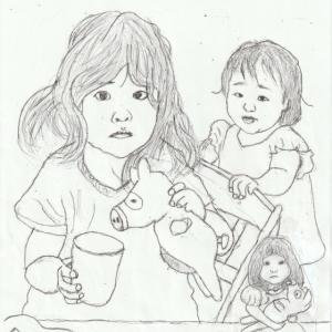 孫娘の肖像6-8 (2歳9カ月の肖像)