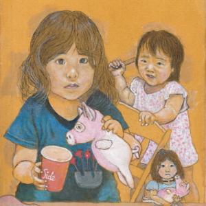 孫娘の肖像6-21 (2歳9カ月の肖像)
