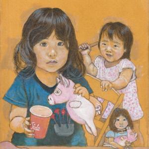 孫娘の肖像6-22 (2歳9カ月の肖像)