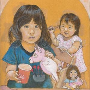 孫娘の肖像6-25 (2歳9カ月の肖像)