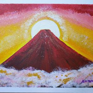 赤富士の絵を提供します