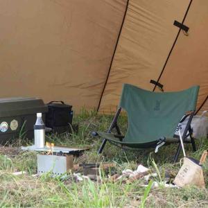 残暑のびわ湖、アディロンダックとぷちもえファイヤーでディキャンプ