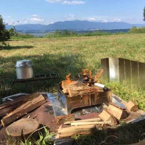 焚き火炊飯、食べまくりなディキャンプ!